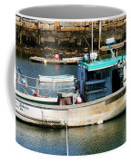Fishing Boat In Rockport Coffee Mug