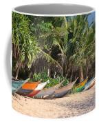 Fishing Boats B Mirissa Beach Coffee Mug