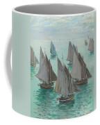 Fishing Boats Calm Sea Coffee Mug