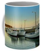 Fishing Boats In A Harbor Towards Evening On Prince Edward Island Coffee Mug