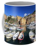 fishing boats in Camogli Coffee Mug
