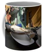 Fishing Boats In Manarola - Cinque Terre Coffee Mug