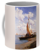 Fishing Craft With The Rivere Degli Schiavoni Venice Coffee Mug