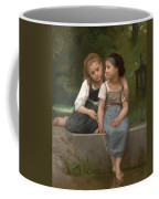 Fishing For Frogs Coffee Mug by William Bouguereau