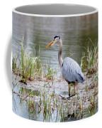 Fishing Heron  Coffee Mug