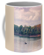 Fishing In Autumn Coffee Mug by Jai Johnson