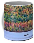 Fishing In The Fall Colors On Lake Chocorua Coffee Mug