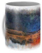 Fishing In The Fog Photo Art Coffee Mug