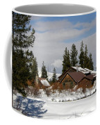 Fishing Lodge In The Winter Coffee Mug