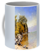 Fishing On Lac Leman Coffee Mug