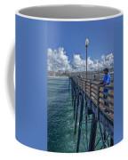 Fishing On Oceanside Pier Coffee Mug