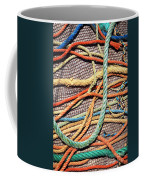 Fishing Ropes And Net Coffee Mug