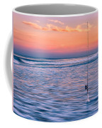 Fishing The Sunset Surf - Horizontal Version Coffee Mug