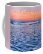Fishing The Sunset Surf - Square Version Coffee Mug