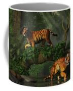 Fishing Tigers Coffee Mug