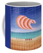Five Beach Umbrellas Coffee Mug