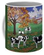 Five Black And White Cows Coffee Mug