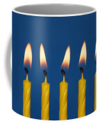 Five Candles Burning Coffee Mug