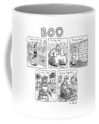 Five Different Pictures Are Shown Below The Title Coffee Mug