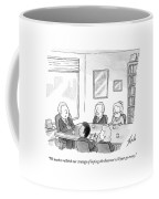 Five People Sit Around A Conference Table Coffee Mug