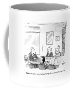 Five People Sit Around A Conference Table Coffee Mug by Tom Toro