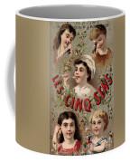 Five Senses Represented By Five Children C1900 Coffee Mug