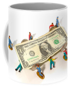 Fixing The Economy Coffee Mug by Olivier Le Queinec