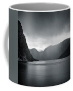 Fjord Rain Coffee Mug by Dave Bowman