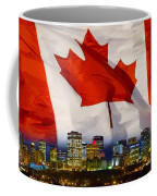 Flag Of Canada Over Albertas Capital Coffee Mug