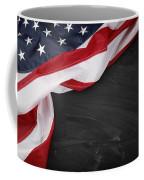 Flag On Blackboard Coffee Mug