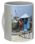 Flag Waving Lifeguard Coffee Mug