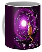 Flame Point Siamese Cat In Dancing Cherry Blossoms Coffee Mug