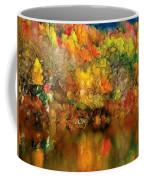Flaming Autumn Abstract Coffee Mug
