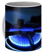 Flaming Blue Gas Stove Burner Coffee Mug