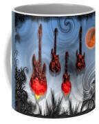Flaming Guitars Coffee Mug