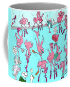 Flamingo A Go Go Coffee Mug
