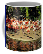 Flamingo Family Reunion Coffee Mug by Karen Wiles