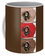 Flanders Poppy Triptych Coffee Mug