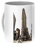 Flat Iron Building In Sepia Coffee Mug