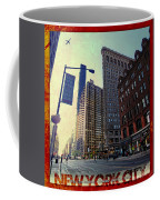 Flat Iron Building Poster Coffee Mug by Nishanth Gopinathan