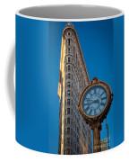 Flatiron Clock Coffee Mug by Inge Johnsson