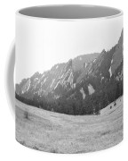 Flatirons Boulder Colorado Winter View Bw Coffee Mug