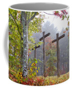Flax Creek In The Fog Coffee Mug by Debra and Dave Vanderlaan