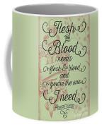 Flesh And Blood - Johnny Cash Lyric Coffee Mug