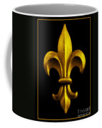 Fleur De Lis In Black And Gold Coffee Mug