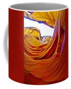 Flexibility Rock In Lower Antelope Canyon Near Page-arizona  Coffee Mug