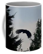 Flight Of The Black Crow Coffee Mug