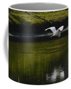 Flight Over Pond Coffee Mug