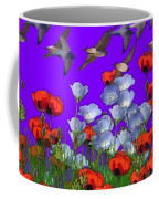 Flight Over Poppies Coffee Mug