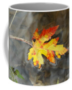 Floating Autumn Leaf Coffee Mug